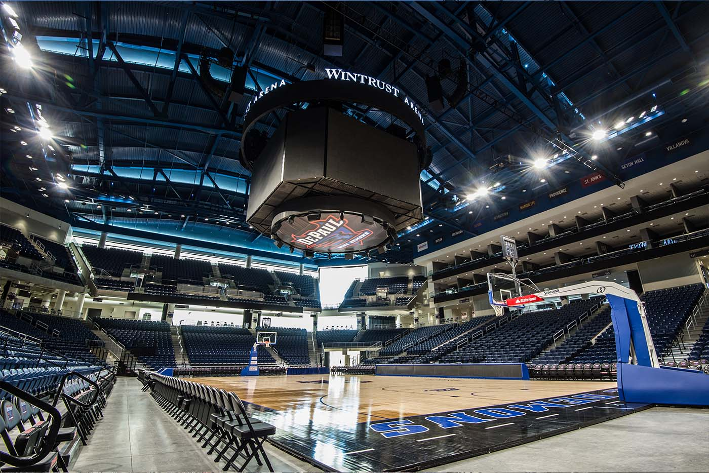 The Basketball court at Wintrust Arena in Chicago